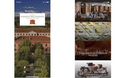 Come prenotare una degustazione di vini all'Albergo dell'Agenzia di Pollenzo tramite l'app